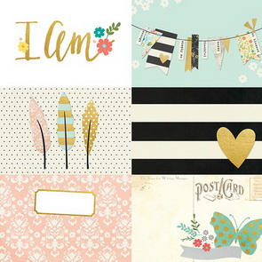 Scrapbookový papír Simple Stories / 4 x 6 Horizontal / I AM
