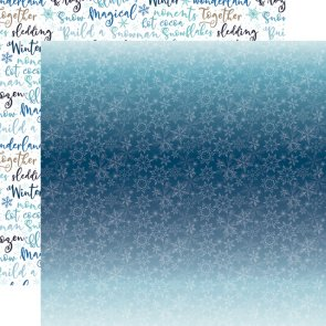 Scrapbooking Paper / Echo Park / Winter Magic / Icy Snowflake
