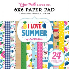 Scrapbooking Paper Pad by Echo Park / I Love Summer