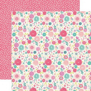 Scrapbooking Paper by Echo Park / Imagine That Girl / Fancy Floral