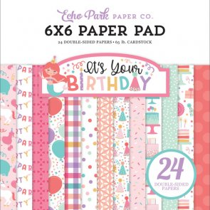Scrapbooking Paper Pad / Echo Park / It´s Your Birthday Girl
