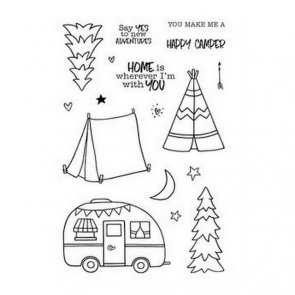 Photopolymer Clear Stamps by Jane´s Doodles / Happy Camper