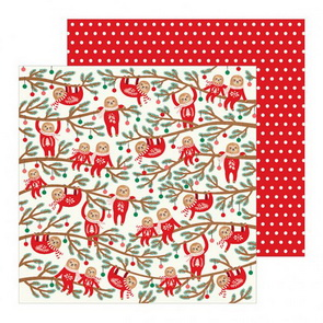 Scrapbooking Paper by Pebbles / Cozy & Bright / Jingle All the Way