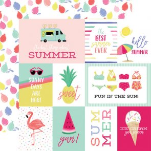 Scrapbooking Paper by Echo Park / Best Summer / Journaling Cards