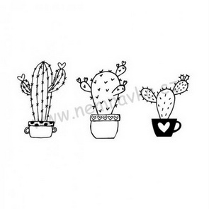 Silicone Stamps Set by Nemravka / Cactus