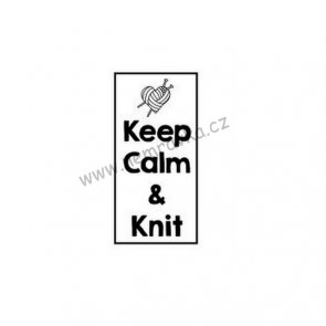 Silicone Stamp by Nemravka / Keep Calm and Knit