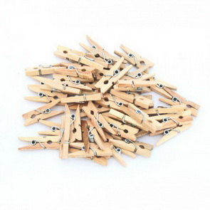 Wooden Mini Pegs / 2,5 cm / Natur