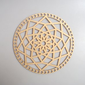 Crochet Basket Lid Base / Ring / 25 cm / Mandala II.