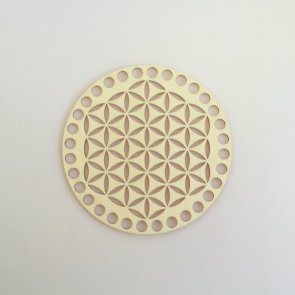 Crochet Basket Lid Base / Ring / 15 cm / Flower of Life