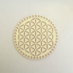 Crochet Basket Lid Base / Ring / 20 cm / Flower of Life