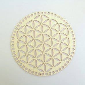 Crochet Basket Lid Base / Ring / 25 cm / Flower of Life