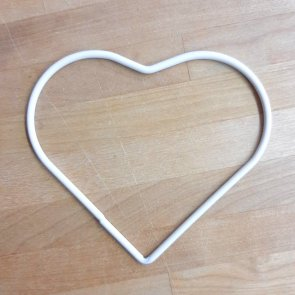 Heart Dream Catcher / Hotex / 10 cm / White