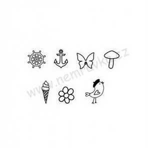Silicone Stamps Set by Nemravka / Spring - Summer Icons