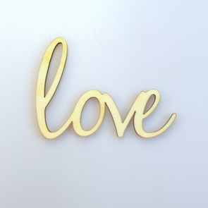 Decorative Wooden Writing Signs / Love
