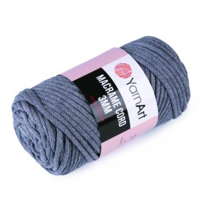 YarnArt Macrame Cord 3mm 250 g / no. 758 Grey