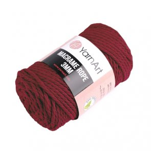 Macrame Rope 3 mm / YarnArt / 781 Red Dark