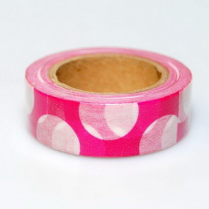 Washi Tape / Magenta with White Dots