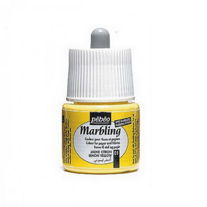 Marbling Paint by Pebeo / 45 ml / Lemon Yellow