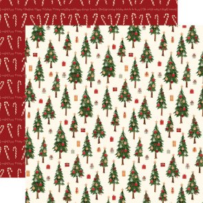 Scrapbooking Paper / Carta Bella / Hello Christmas / Merry Trees