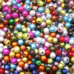 Sparkling Beads / 50 pc / 14 mm / Colour Mix