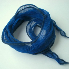 Silk Crinkle Chiffon String / Thick / Blue