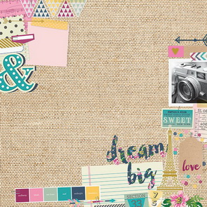 Scrapbookový papír Simple Stories / So Fancy / Mood Board