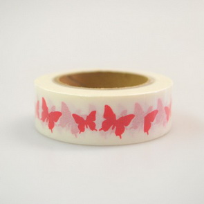 Washi Tape / Red Butterflies
