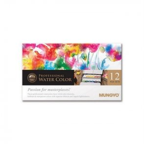 Mungyo Watercolor Paint Set / 12 pc / Full Pan