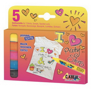 JAVANA SUNNY Texi Max Textile Markers / Girl Set