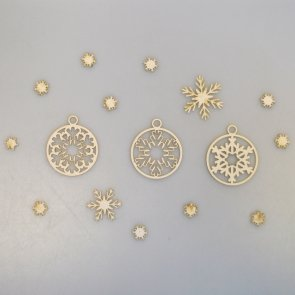 Chipboards Wycinanka / Christmas Balls and Snowflakes