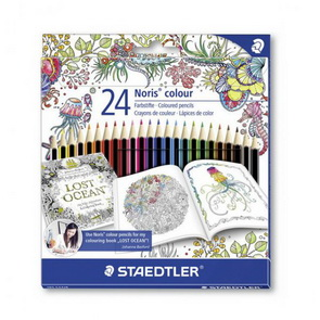 Noris Color Pencil Set by Staedtler / 24 pc