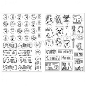 Czech Transparent Stickers by Nemravka / Baking Set