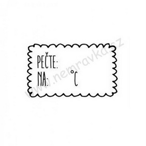 Silicone Stamp by Nemravka / Baking Tag
