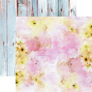 Scrapbooking Paper / 13 Arts / Pastels Spring / Pink in the Sky
