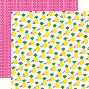 Scrapbooking Paper by Echo Park / I Love Summer / Pinapple Paradise