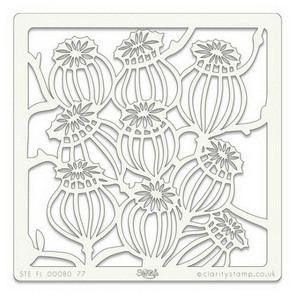 Plastic Stencil by Claritystamp / Poppy Seed Heads
