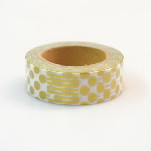 Washi Tape / Golden Dots and Stipes
