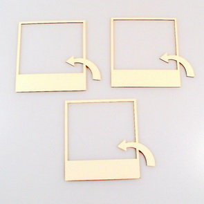 Chipboards Wycinanka / Frames with arrow
