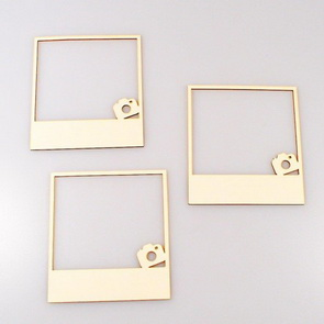Chipboards Wycinanka / Frames with cameras