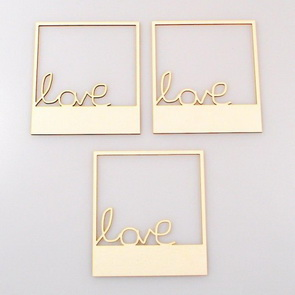 Chipboards Wycinanka / Frames LOVE