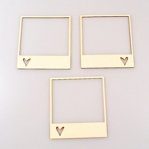 Chipboards Wycinanka / Frames with hearts