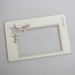 Chipboards LaseroweLove / Frame with a Le Astre Star