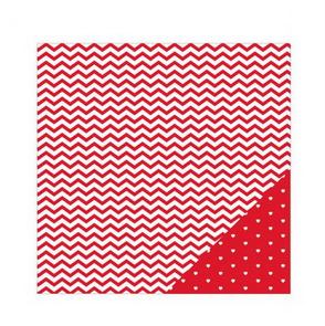 Scrapbooking Paper American Crafts / Red Chevron