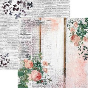 Scrapbookový papír 13 Arts / Rose Fields / Romantic Story