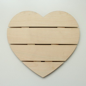 Decorative Wooden Grate / Heart