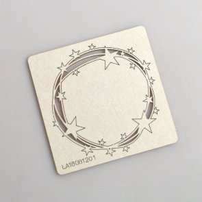 Chipboards LaseroweLove / Le Astre / Round Frame With Stars