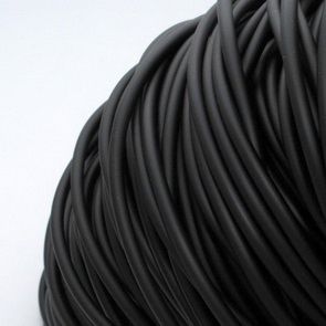 White String - Hollow / Buna Cord  / 3 mm / Black