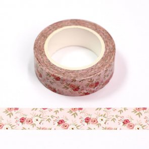Washi Tape / Pink with Roses