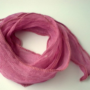 Silk Crinkle Chiffon String / Thick / Pink