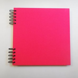 Cardboard Album with Pink Cover / 22 x 22 cm / White Paper
